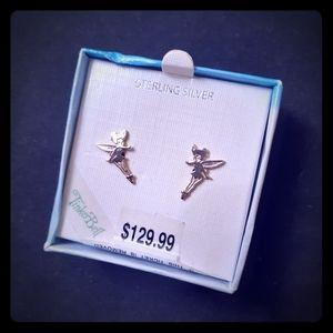 Sterling Silver Disney Tinker Bell Stud Earrings